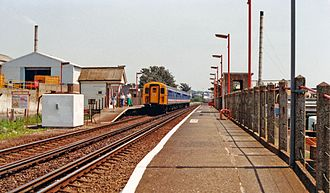 Aldrington railway station - View eastward, towards Hove and Brighton