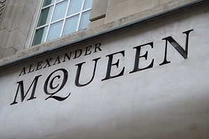 Alexander McQueen's logo in London