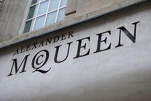 Alexander McQueen's logo in London
