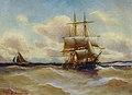 Alfred Jensen - Dreimaster auf bewegter See (1899).jpg