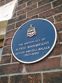 Photo of Alfred Wainwright black plaque