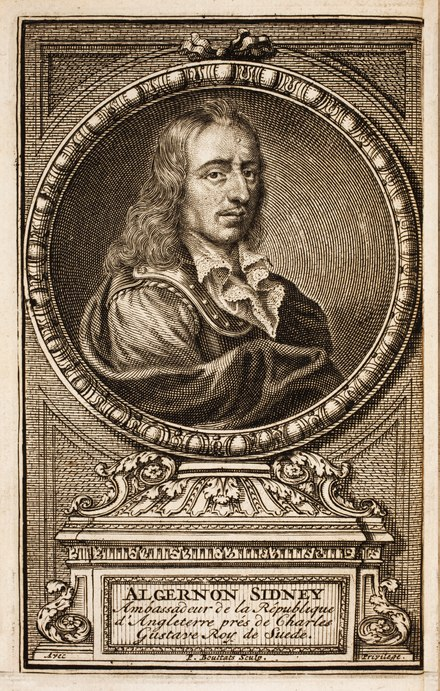 Portrait of Sidney on the frontispiece of the French translation Discours sur le gouvernement (Discourses Concerning Government), The Hague, 1702