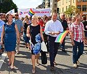Socialdemokraterne og det Moderate samlingsparti, Sveriges to største politiske partier.