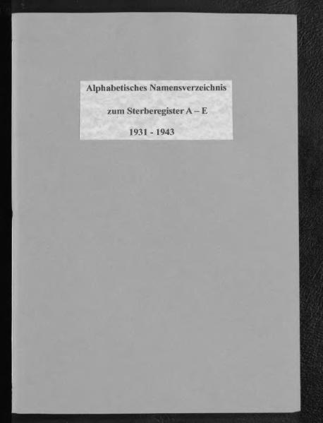 File:Alphabetisches Namensverzeichnis zum Sterberegister des Standesamtes Minden, 1931 bis 1943 (nur A bis E).djvu
