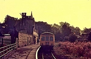 Alston line - Alston in September 1973