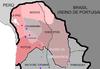 Övre Peru omfatter den rødtonede del af kortet