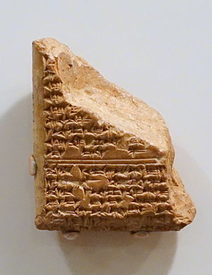 Amarna letter EA 26 - EA 26, fragment (Obverse).  (high-resolution expandable photo)
