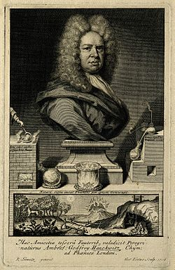 Ambrose godfrey (hanckwitz). line engraving by g. vertue, 17 wellcome v0002285