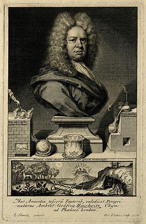 Ambrose Godfrey - Engraving of Ambrose Godfrey by George Vertue