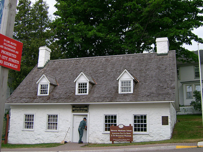 During the fur trade, this building housed John Jacob Astor's company store