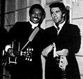 American soul singer Wilson Pickett with Pino Presti (1970).jpg