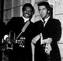 Pino Presti con Wilson Pickett durante il tour europeo nel 1970