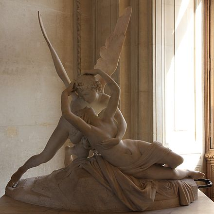 Antonio Canova's Psyche Revived by Cupid's Kiss was commissioned in 1787, donated in 1824. Amor-Psyche-Canova-JBU02.JPG