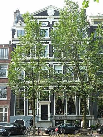 Leendert Pieter de Neufville - Herengracht 70-72 where De Neufville lived during his bankruptcy