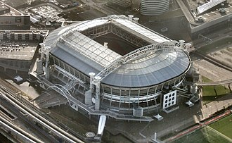 2012–13 UEFA Europa League - Image: Amsterdam Arena Roof Open