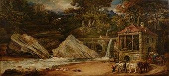 An Overshot Mill in Wales (Aberdulais) - James Ward.jpg