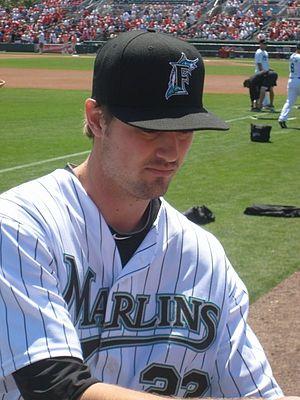 Andrew Miller (baseball) - Miller at Florida Marlins spring training 2010