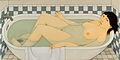 "Andrew Stevovich oil painting, Loretta in the Bath, 2002, 13"" x 26"".jpg"