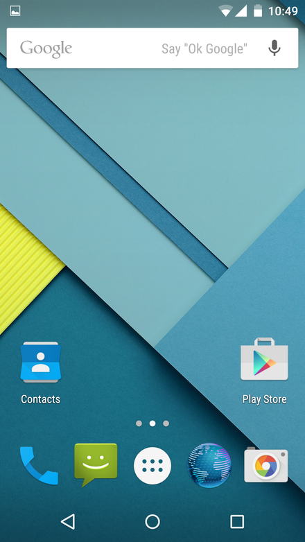 Android 5.0 界面