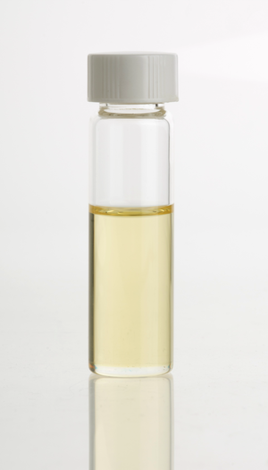 Angelica archangelica - Angelica (A. archangelica) essential oil in clear glass vial