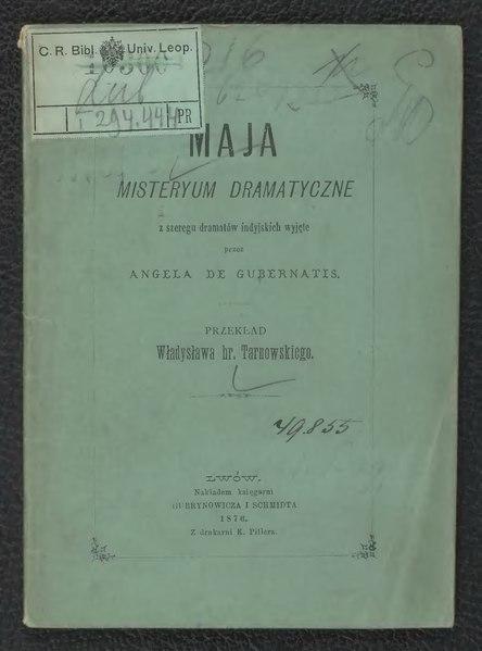 File:Angelo De Gubernatis - Maja.djvu