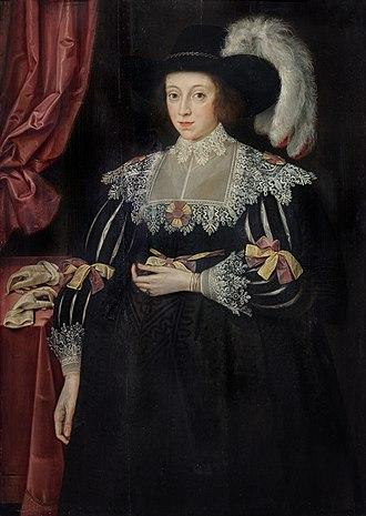 Thomas Fanshawe, 1st Viscount Fanshawe - Portrait of Anne Fanshawe, first wife of Thomas Fanshawe, 1st Viscount Fanshawe, by Marcus Gheeraerts the Younger