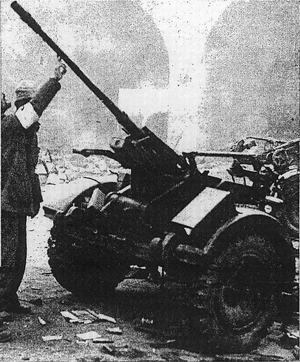 Solothurn ST-5 - A Chinese Army Solothurn ST-5 AA gun was captured by the Japanese Imperial Army in Nanjing, 1937.