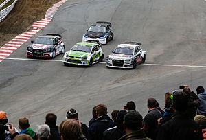 2015 World RX of Germany - Tommy Rustad, Anton Marklund, René Münnich and Mark Flaherty