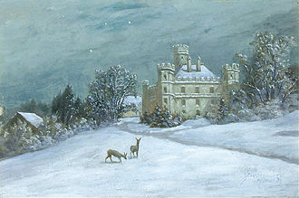 Berg Castle (Bavaria) - Berg Castle in winter (Anton Zwengauer)