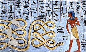 Apep - Atum and the snake Apophis