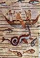Aquileia - Basilica - Giona ingoiato mostro marino (esposizione 33).jpg