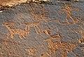 Archaic & Fremont Indian petroglyphs (~6000 B.C. to ~1300 A.D.) (Potash Petroglyphs, along the Colorado River, eastern Utah, USA) 11 (22219482323).jpg