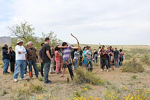 El Paso Museum of Archaeology - Archery during 2015 Franklin Mountains Poppies Fest at the Museum of Archaeology.