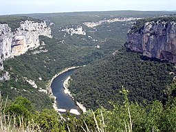 The Ardèche river