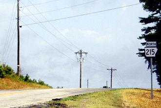 Arkansas Highway 215 - Highway 215 north of Mulberry