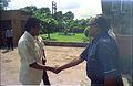 Armoogum Parsuramen Shakes Hands With Tarun Kumar Roy - NCSM - Calcutta 1994 384.JPG