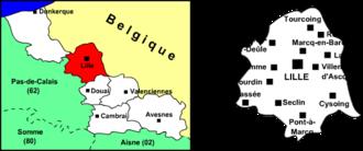 Arrondissement of Lille - Image: Arrondissement lille nord 59