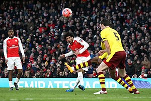 Mohamed Elneny - Elneny on his Arsenal debut against Burnley in January 2016