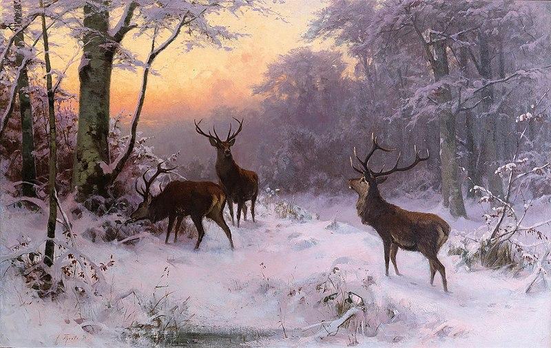 File:Arthur Thiele Wild im Winterwald 1874.jpg