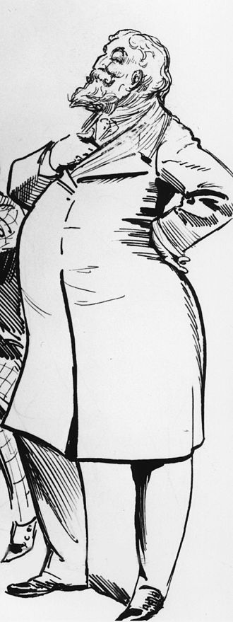 Arthur William à Beckett - Caricature of Arthur William à Beckett by Harry Furniss