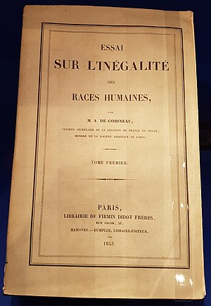 Arthur de Gobineau - Cover of the original edition of An Essay on the Inequality of the Human Races