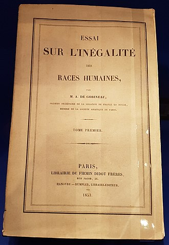 An Essay on the Inequality of the Human Races - Cover of the original edition