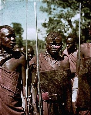 Arusha people - A group of Arusha wedding dancers in Tanganyika c. 1936