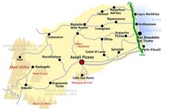 Mappa del territorio ascolano