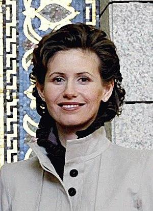 Asma al-Assad, wife of the President Bashar al...
