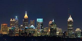 Demographics of Georgia (U.S. state) - Image: Atlanta Skyline from Buckhead