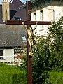 Attigny (Ardennes) croix de chemin à coté du pont.JPG