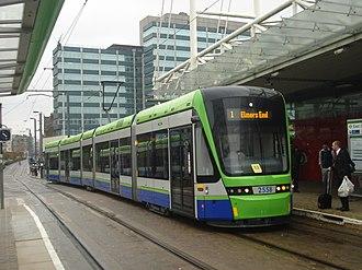 Trams in London -  Tramlink at East Croydon, 2013