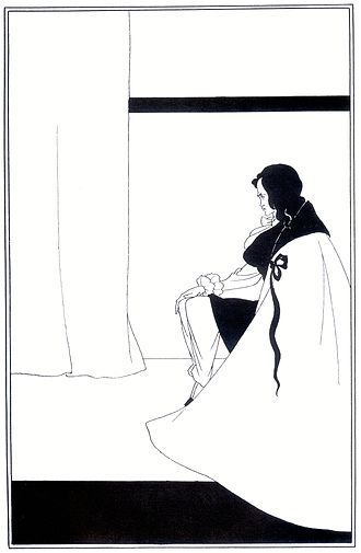 The Fall of the House of Usher - 1894 illustration by Aubrey Beardsley