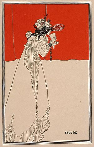 Tristan and Iseult - Aubrey Beardsley: Isolde, Jugendstil illustration in Pan, Berlin, 1899-1900